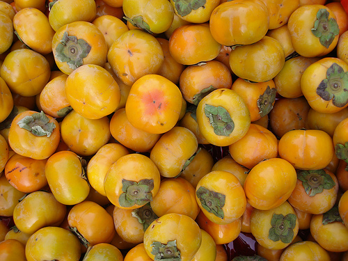 array of persimmons