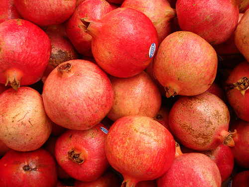 Random pile of pomegranates