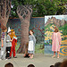 Children acting out the Wizard of Oz