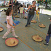 people dancing around mexican hats